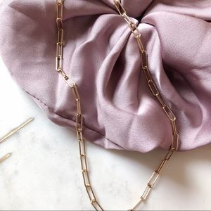 """14k gold filled link chain necklace 18"""""""